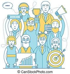 Business team line design