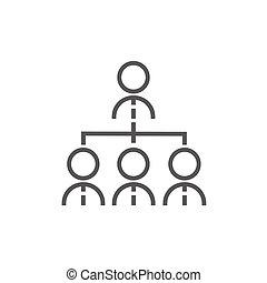 Business team line icon.