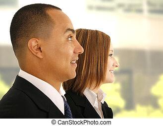 Business Team Listening To Presentation