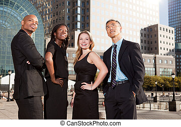 Business Team Look Up