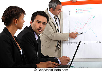 business team making a presentation