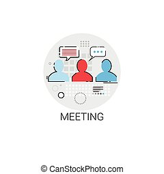 Business Team Meeting Brainstorm Icon
