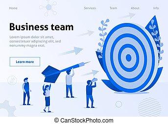 Business Team Metaphor Cooperation Work Banner