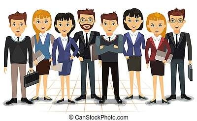 Business team of employees vector illustration