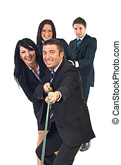 Business team of people effort