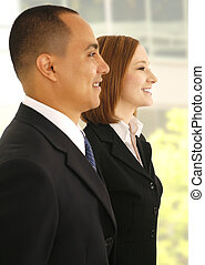 Business Team On Informal Meeting