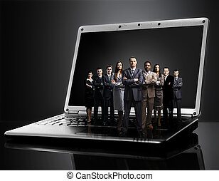 business team on laptop