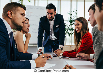 Business team on meeting in office