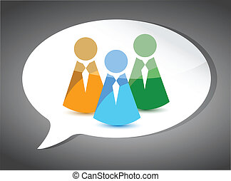 business team On Speech Bubble. illustration
