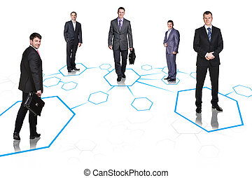 Business team over isolate background