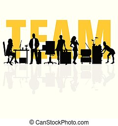 business team people silhouette illustration