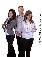 Business Team - Group Of Three Young Business People,...