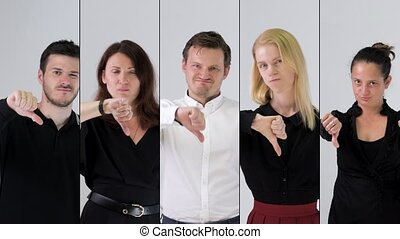 business team portrait - Business team disapproving and...