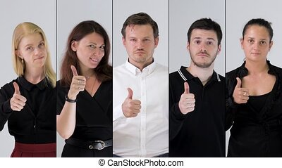 business team portrait - Business team likes and showing...