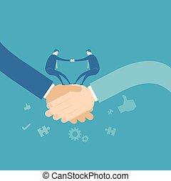 Business team shakehand