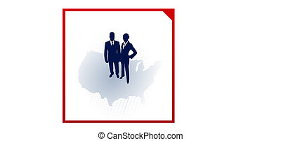 business team silhouettes on corporate elegance background