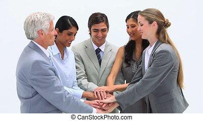 Business team together