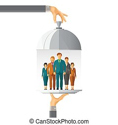 Business team vector concept in flat style