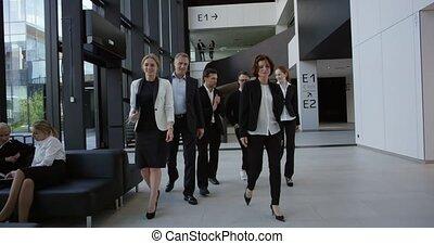 Business team walking together