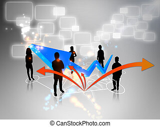 Business team with graph