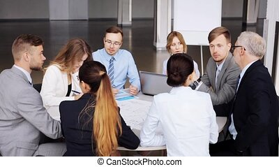 business team with scheme meeting at office 51