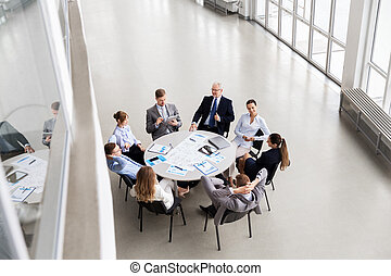 business team with scheme meeting at office