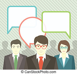 Business Team with Speech Bubbles