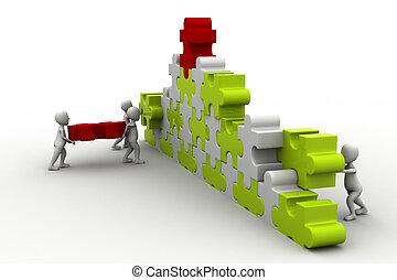 business team work building