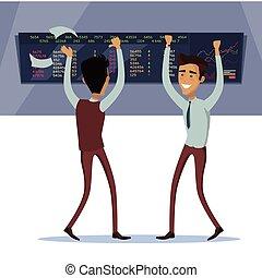 Business Team Work Success Concept Vector - Business team...