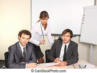 Business team working at office