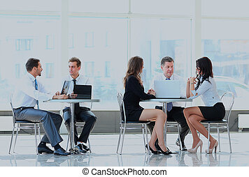 Business team working in an office.