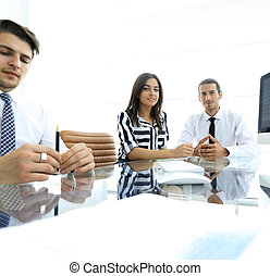 business team working in office.