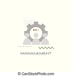 business team working process company work group management concept line style white background