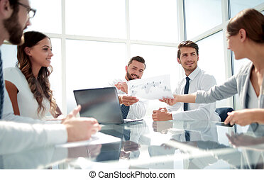 business team works with documentation