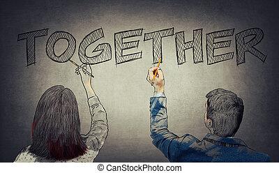 Business teamwork collaboration