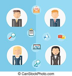 Business teamwork concept flat illustration