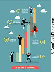 Business teamwork concept infographic