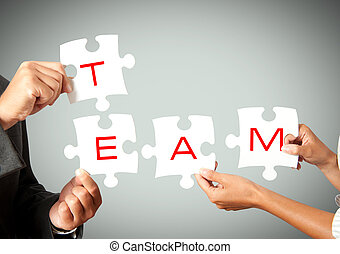 Business teamwork - Concpet of team that works together