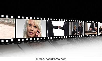 Business teamwork Film Reel