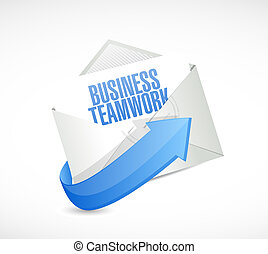 business teamwork mail sign concept