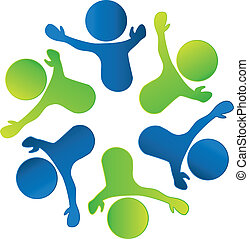 Business teamwork people logo