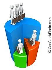 Business teamwork success concept