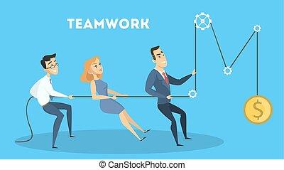 Business teamwork together.