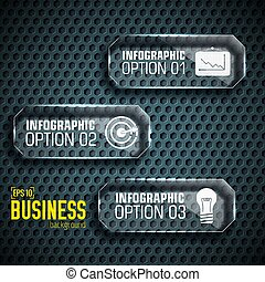 Business tech infographic template with text fields. Vector Illustration