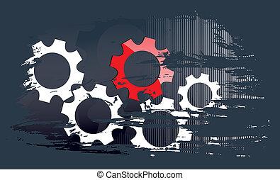 business technika, grafické pozadí