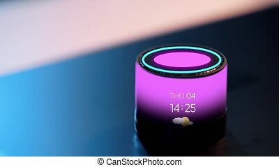 smart speaker with date, time and day of week - business,...