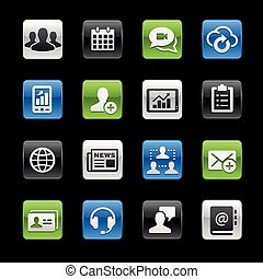 Business Technology Icons -- Gelbox