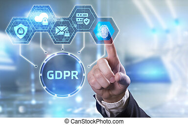 Business, Technology, Internet and network concept. GDPR ...