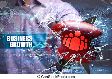 Business, Technology, Internet and network security. business growth