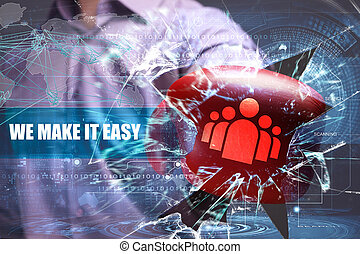 Business, Technology, Internet and network security. we make it easy